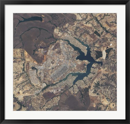 Framed Natural-Color Image of Brasilia, Brazil Print