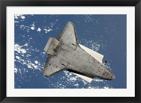 Framed Underside of Space Shuttle Discovery Print