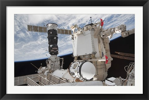 Framed Mini Research Module 1 attached to the International Space Station Print