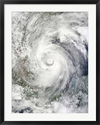 Framed Hurricane Alex over the Western Gulf of Mexico Print
