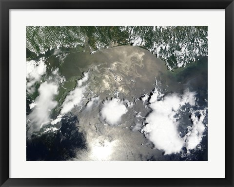 Framed Oil Slick in the Gulf of Mexico Print