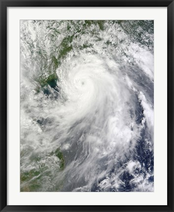 Framed Typhoon Chanthu Print