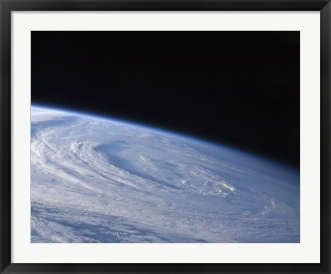 Framed High-Oblique view of the Extra-Tropical Unnamed Cyclone that Merged with Hurricane Earl Print
