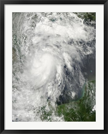 Framed Tropical Storm Hermine in the Gulf of Mexico Print