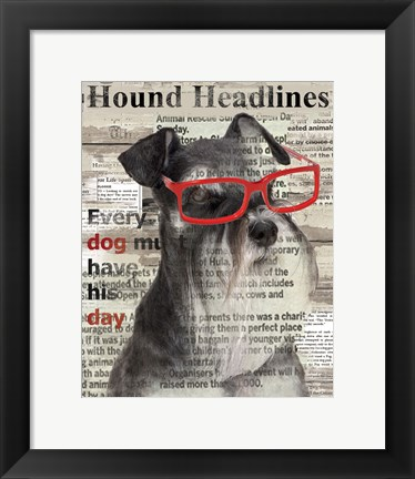Framed Hound Headline Print