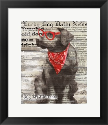 Framed Lucky Dog Print