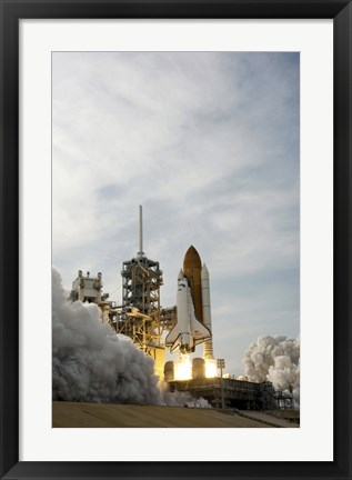Framed Space Shuttle Takes off from Kennedy Space Center Print