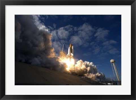 Framed Space Shuttle Atlantis Lifts off from the Launch pad at Kennedy Space Center, Florida Print