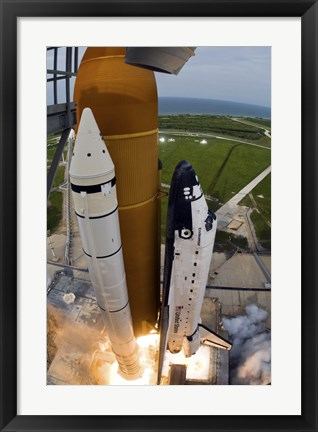 Framed Kennedy Space Center Space Shuttle Print