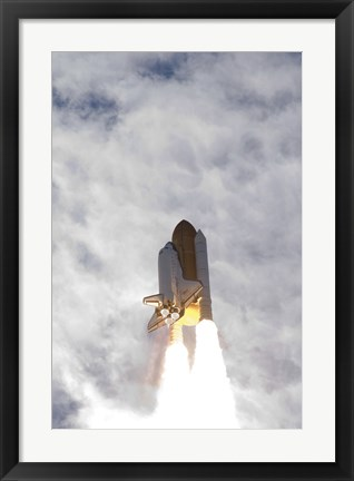 Framed Space Shuttle Atlantis Lifts Off from Kennedy Space Center, Florida Print