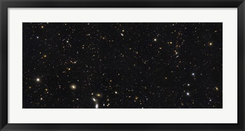 Framed Panoramic view of over 7,500 Galaxies Stretching back Through Most of the Universe's History Print