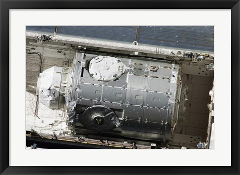 Framed Tranquility Node in Space Shuttle Endeavour's Cargo Bay Print