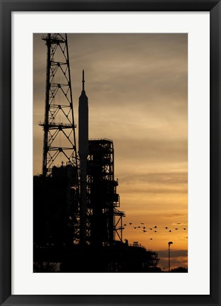 Framed Ares I-X rocket is seen on the Launch Pad Print