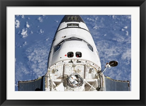 Framed View of Space Shuttle Endeavour's Crew Cabin and Forward Payload Bay Print