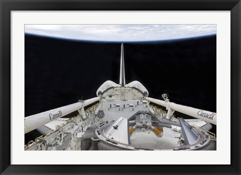 Framed partial view of Space Shuttle Endeavour's Payload Bay Print