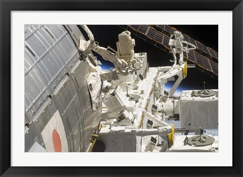 Framed Close-up View of Components of the International Space Station Print