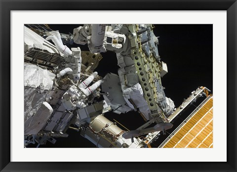 Framed Astronauts Working on the International Space Station Print
