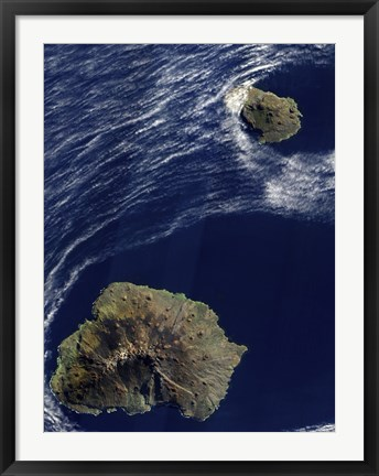 Framed Satellite view of the Prince Edward Islands Print
