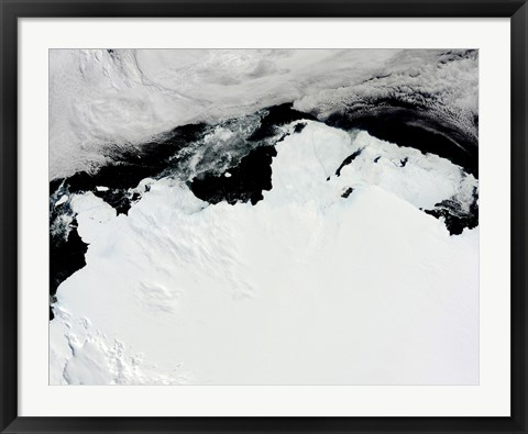 Framed Queen Mary Coast of Antarctica Print