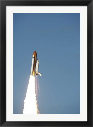 Framed Space Shuttle Atlantis Taking Off Print