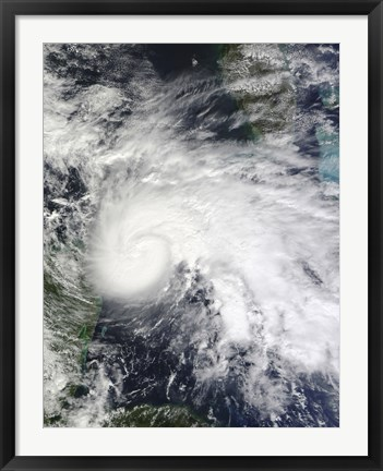 Framed Tropical Storm Ida in the Caribbean Sea Print
