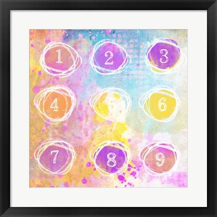 Framed Numbers Print