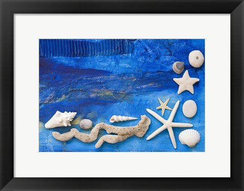 Framed Flotsam Collage Print