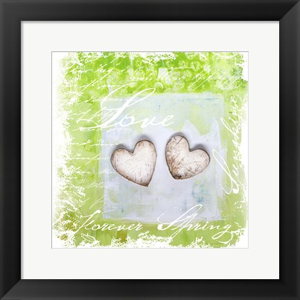 Framed Spring Heart Collage Print