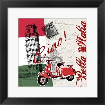 Framed Ciao Pisa Print