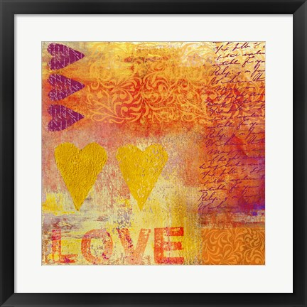 Framed Love Stamps Print