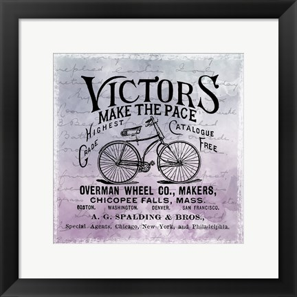 Framed Vintage Bicycle Print