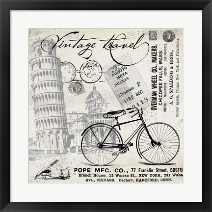 Framed Vintage Travel Italia I Print