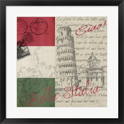 Framed Vintage Travel Italia II Print