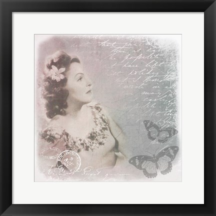 Framed Vintage Woman Print