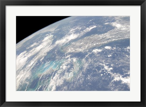Framed High Oblique Earth view of the Florida Peninsula and its Neighboring Geographic Features Print