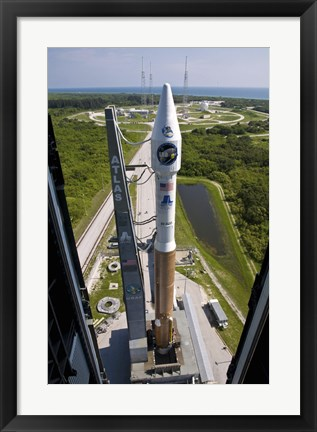 Framed Atlas V rocket on the Launch Pad at Cape Canaveral Air Force Station, Florida Print