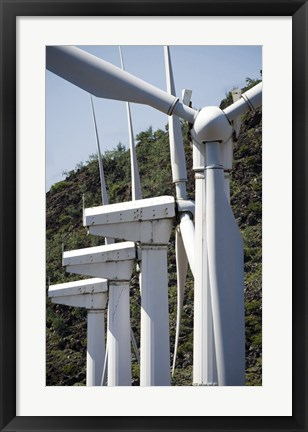 Framed Wind Turbines at the Ascension Auxiliary Airfield Print