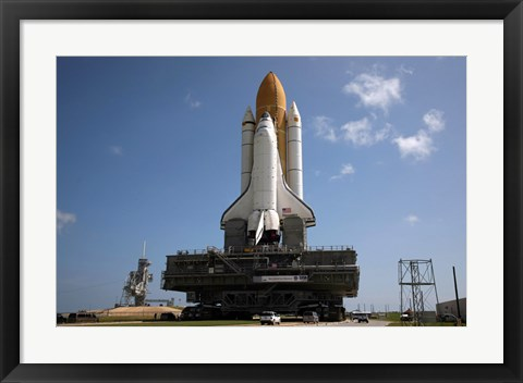 Framed Space Shuttle Discovery makes its way to the launch pad at Kennedy Space Center Print