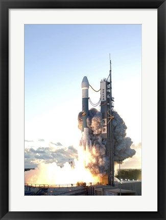 Framed Delta II Rocket Lifts off from its Launch Pad Print