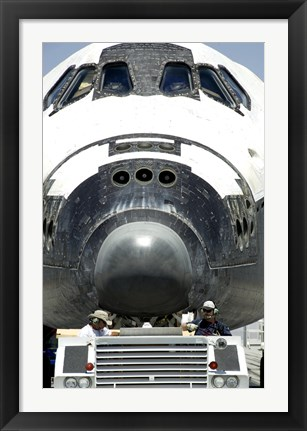 Framed Space Shuttle Atlantis is Towed from the Runway Print