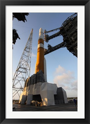 Framed Delta IV Rocket that will Launch the GOES-O Satellite into Orbit Print