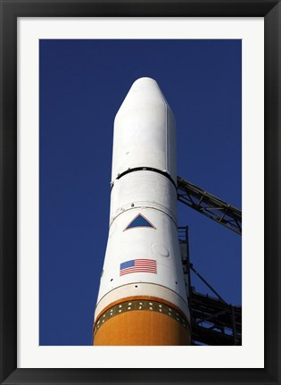 Framed View of the Nose Cone of the Delta IV rocket that will Launch the GOES-O Satellite into Orbit Print