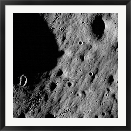 Framed Cratered Regions near the Moon's Mare Nubium Region Print