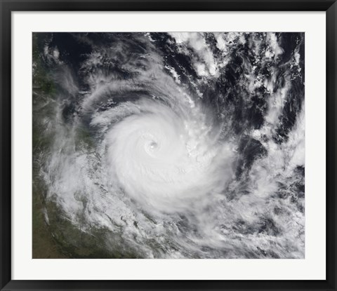 Framed Severe Tropical Cyclone Hamish in the South Pacific Ocean Print