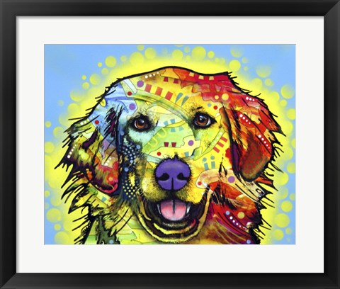 Framed Golden Retriever Print