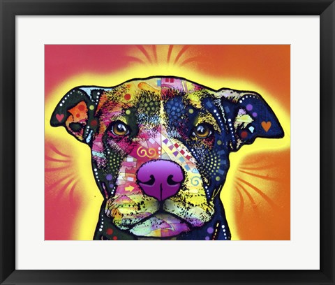 Framed Love A Bull Print
