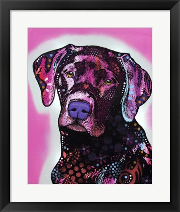 Framed Black Lab Print