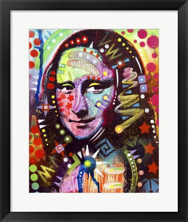 Framed Mona Lisa Print