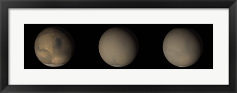 Framed 2001 Great Dust Storms on Mars Print