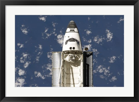 Framed Overhead view of the Exterior of Space Shuttle Endeavour Print
